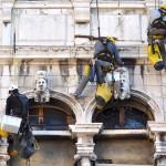 Restauratori su fune - Conservatorio di Musica di Venezia
